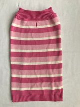 Pink stripe dog sweater size L in Chicago, Illinois