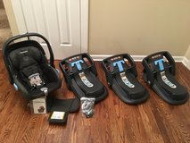 UPPAbaby Mesa car seat (Jake, black) plus 3 bases in St. Charles, Illinois