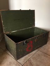 Vintage trunk in Fort Polk, Louisiana