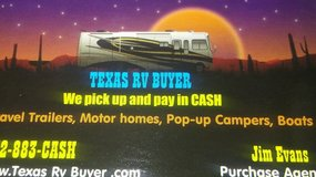 Cash for travels, mh, pop-ups in Bellaire, Texas