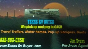 We buy RV's Cash on the spot in Bellaire, Texas