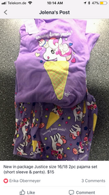NEW Justice unicorn pajamas in Ramstein, Germany