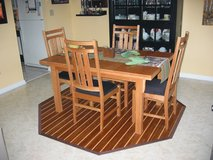 Hand-Crafted Solid Wood Dining Table with Four Chairs in Heidelberg, GE