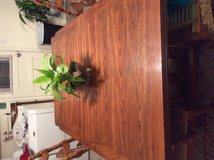 Large rectangular wood dining table with leaf in Fort Leonard Wood, Missouri