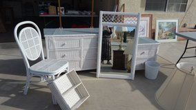 White Wicker Bedroom Set in Yucca Valley, California