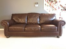 Brown Leather Couch in Bolingbrook, Illinois