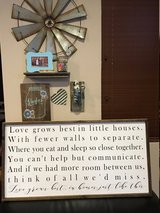 "BRAND NEW Farmhouse style ""Love grows best"" framed wall art in 29 Palms, California"