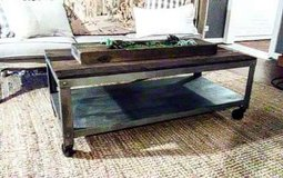 Custom Rustic industrial coffee table in Elgin, Illinois
