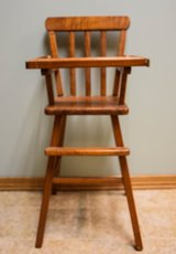 60 year old wood doll high chair in Sugar Grove, Illinois