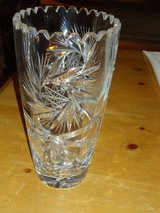 "8-1/4"" crystal vase in Bolingbrook, Illinois"