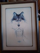 Indian and Wolf Framed Print! in 29 Palms, California
