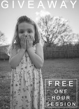 Free ONE HOUR photo session in Byron, Georgia