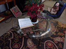 Glass Top Round Coffee Table in Fort Riley, Kansas