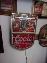 Set of Two Coors Light Up Signs in Fort Riley, Kansas