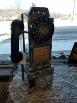 1950's Automatic Electric 3 slot Chrome Pay Phone in Fort Leonard Wood, Missouri