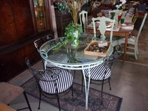 Wrought Iron Round Table and Four Chairs in Fort Riley, Kansas