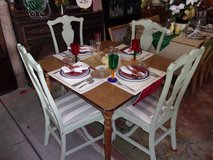 Maple Table and Four Chairs in Fort Riley, Kansas