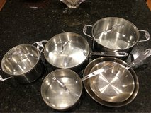 10 pcs Emeril Stainless Steel pots and pans in Fort Meade, Maryland