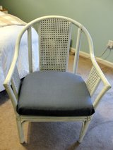 CANE WEAVE ACCENT CHAIR VINTAGE in Byron, Georgia