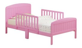 pink toddler bed and mattress in Vacaville, California