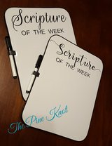 """SCRIPTURE OF THE WEEK"" dry erase marker board in Leesville, Louisiana"