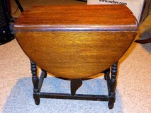 "ANTIQUE SIDE DROP TABLE - 30"" Opened in Chicago, Illinois"