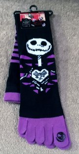 HALLOWEEN NIGHTMARE BEFORE CHRISTMAS KNEE-HI TOE SOCKS, NIP in Lakenheath, UK