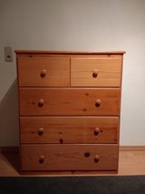 Solid wood 5 drawer dresser in Ramstein, Germany