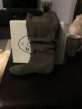 Steve Madden slouch suade boots gray flat 7 in Travis AFB, California