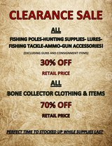 FISHING AND HUNTING CLEARANCE SALE! in Camp Lejeune, North Carolina