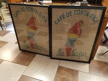 Pair of Framed Burlap Coffee Bags in Fort Leonard Wood, Missouri