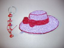 RED HATTERS COIN PURSE AND KEY CHAIN in Naperville, Illinois