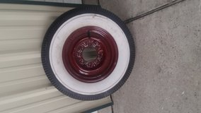 Antique rim & tire new in Kingwood, Texas