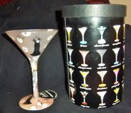 "Beautiful new Martini glass Lolita ""Galmour-tini""  High heels, black dress  In orig. box in Alamogordo, New Mexico"