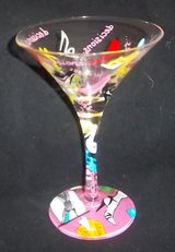 "Another ""Lolita"" Martini Glass wth  High Heel pictures painted in Alamogordo, New Mexico"