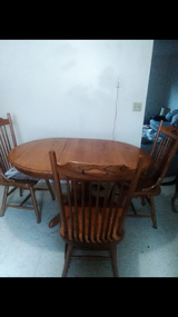 Solid Wood Kitchen Table with Four Chairs in Fort Knox, Kentucky