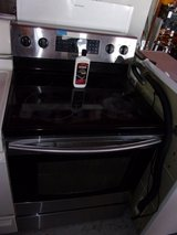 Samsung Black and Chrome Electric Stove in Fort Riley, Kansas