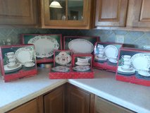 Xmas Dishes/12 Piece Set + Serving Pieces/80% Off Retail Price/(in boxes )/Perfect Condition! in Oswego, Illinois