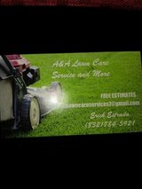 A&A lawn care services in Houston, Texas