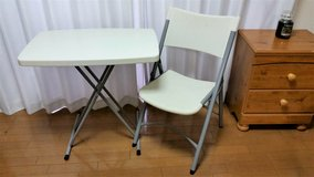 Folding Tray Tables and Chairs in Okinawa, Japan