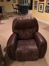 Two Large Brown Real Leather Recliners in Quantico, Virginia