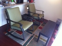 Beautiful, new indoor/outdoor fancy lounge set/2 Chairs/1 Table/Wrought Iron in Okinawa, Japan