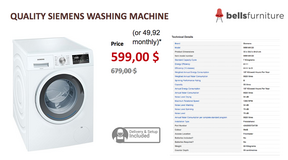 Top Quality Siemens Washing Machine / US Financing in Ramstein, Germany