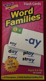 96 Word Families Flash Cards in Okinawa, Japan
