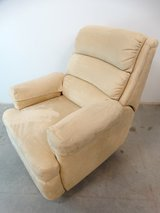 Contemporary Microfiber Beige Recliner in Pearland, Texas