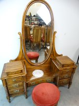 Nostalgic Antique Styled Vanity with Stool in Pearland, Texas