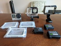 GoPro Her4 Silver with extras in Warner Robins, Georgia