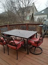 Patio set with 6 chairs and cushions in Westmont, Illinois