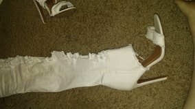 White stiletto boots thigh high in Fort Polk, Louisiana