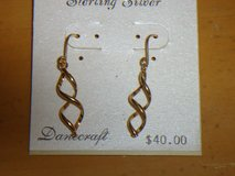 new 24K over sterling earrings in Glendale Heights, Illinois